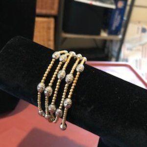Sterling silver two tone bracelet